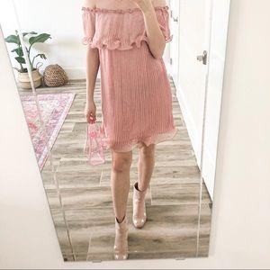 NWT Sugar + Lips Patrice Pink Accordian Dress
